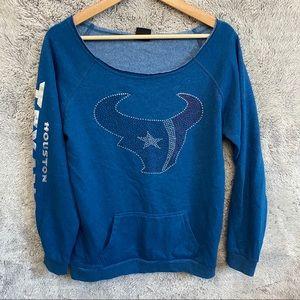 NFL Houston Texas Long Sleeve Sweatshirt